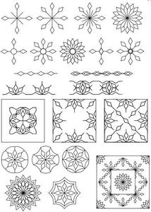 Sew Steady WT-SFXSN1-2 Westalee Spin-E-Fex Snowflakes Templates 1 And 2
