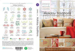 Every Stitch Counts ESC-Q3 ESC Holiday Traditions 2013 Multiformat Embroidery Design CD