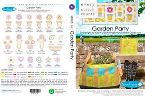 Every Stitch Counts ESC-Q5 ESC Garden Party 2014 Multiformat Embroidery Designs CD