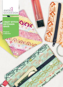Anita Goodesign PROJ87 Crazy Stitch Keychain Bags CD