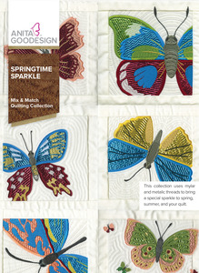 Anita Goodesign 279AGHD Springtime Sparkle Mix & Matching Quilting Collection