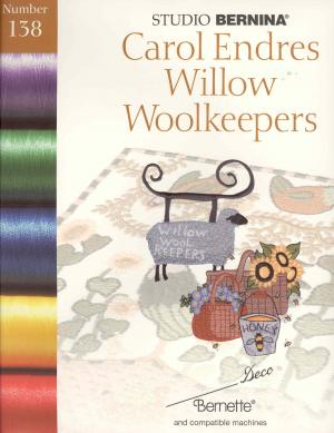 1729: Bernina Deco 138 Carol Endres Willow Woolkeepers Embroidery Card .pes