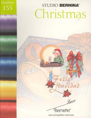 1727: Bernina Deco 135 Christmas Embroidery Card in Brother PES Format