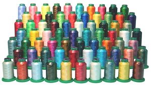 Isacord ISGIFTBX-70 Spools x1100 Yard Cones 40wt Poly Embroidery Thread, UV Resistant, Gift Bag in Box, Most Popular Colors* at $3.29 Per Spool