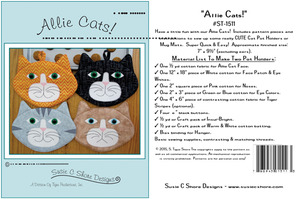 Susie C Shore Designs ST-1511 Allie Cats Sewing Pattern