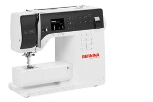 BERNINA 380 Demo, LED Sewing Machine With Extension Table, Knee Lift Lever, 30 Memories, Mirrow Image Patterns