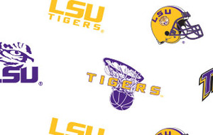 Sykel LSU-046 College Prints 100% cotton by the yard