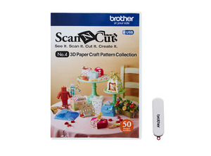 Brother ScanNCut CAUSB4 No.4 USB 3D Paper Craft Pattern Collection on USB Stick