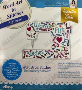 62075: DIME DEC-Wordart #87 Word Art In Stitches Embroidry Lettering Software