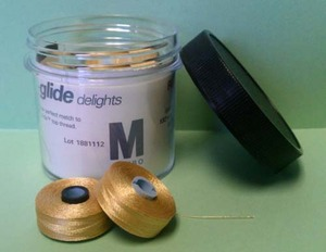 62112: Fil-TEC FT-MGDM- Prewound M Bobbins Magna Glide Quilt, Jar of 10x132Yds Poly 40wt Thread for Longarm