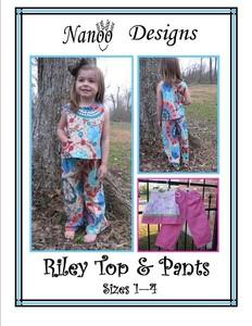 Nanoo Designs Riley Top and Pants Sewing Pattern sz 1-4