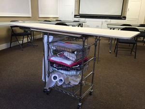 """Quilters Ironing Boards Extender 20x60"""" Big Board Extension, Expanded Top and Cover Combo"""