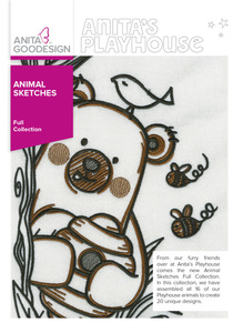 Anita Goodesign 284AGHD Animal Sketches Full Collection