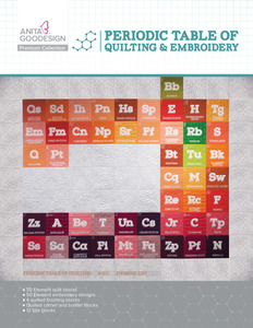61898: Anita Goodesign PRE07 Periodic Table of Quilting and Embroidery Premium Collection