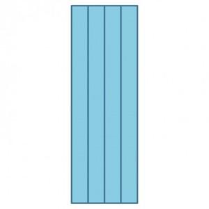 """Accuquilt Studio 50054 Super Strip Cutter Die 2"""" 1.5"""" Finished 4 Strips"""