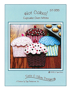 Susie C Shore Designs ST-935 Hot cakes! Cupcakes Oven Mitts Sewing Pattern