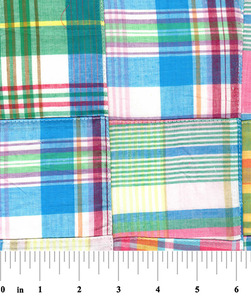 """Fabric Finders 15 Yd Bolt 10.67 A Yd Cotton Patchwork #59 Multi Colored 100% 45"""" Pima Cotton Fabric"""
