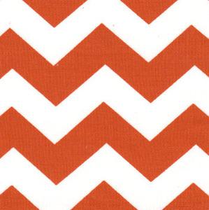 Fabric Finders 15 Yd Bolt 9.33 A Yd #1400 Orange Chevron 100% Pima Cotton Fabric 60 inch