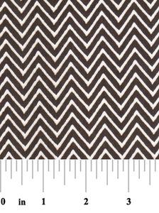Fabric Finders 15 Yd Bolt 9.33 A Yd 1363 Chocolate Chevron 100% Pima Cotton Fabric 60 inch