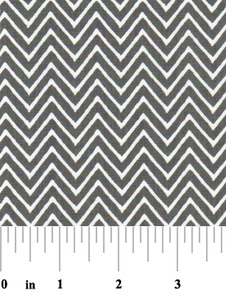 Fabric Finders 15 Yd Bolt 9.33 A Yd 1360-1 Grey Chevron 100% Pima Cotton Fabric 60 inch