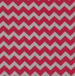 Fabric Finders 15 Yd Bolt 9.33 A Yd 1458 Red/Grey Chevron 100% Pima Cotton Fabric 60 inch