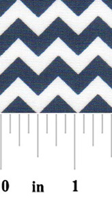 Fabric Finders 15 Yd Bolt 9.33 A Yd 1710 Navy Chevron 100% Pima Cotton Fabric 60 inch