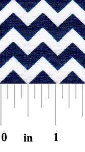 Fabric Finders 15 Yd Bolt 9.33 A Yd 1410 Blue and White Chevron 100% Pima Cotton Fabric 60 inch