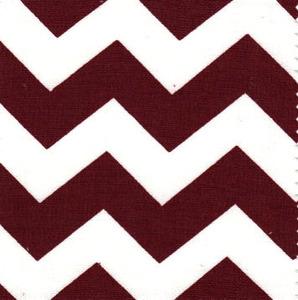 Fabric Finders 15 Yd Bolt 9.33 A Yd 1488 Crimson and White Chevron 100% Pima Cotton Fabric 60 inch
