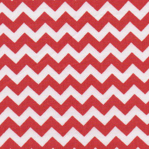 Fabric Finders 15 Yd Bolt 9.33 A Yd 1403 Red Chevron 100% Pima Cotton Fabric 60 inch