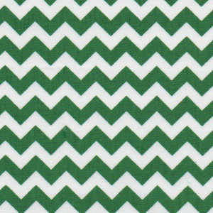 Fabric Finders 15 Yd Bolt 9.33 A Yd 1407 Kelly Chevron 100% Pima Cotton Fabric 60 inch