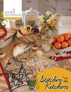 Anita Goodesign PRPL05 Stitchin' in the Kitchen 160 Design Collection CD