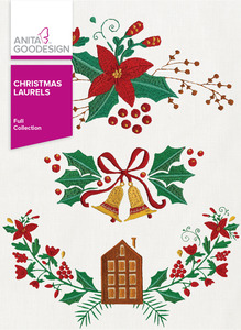 Anita Goodesign 285AGHD Christmas Laurels Full Collection