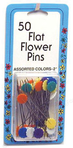 Collins w-135 Flat Flower Pins 2in 50ct