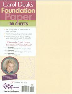 55637: C&T Publishing 7909B Carol Doak's Foundation Paper 100 sheets