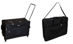 "Tutto 9228MA-2XL 28"" Largest Wheeled Trolley Roller Bag Black +6228EM 28"" Largest Embroidery Arm Case Tote Bag Black"