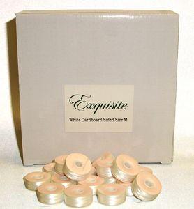 DIME, Exquisite, EX700, White, Style M, Cardboard Bobbins, 144 per box