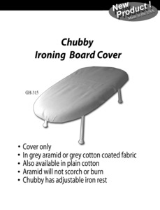 """Golden Hands GH-315 24x14"""" Polder Chubby Ironing Board Replace Cover"""