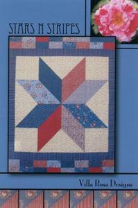 Stars N Stripes VRD8512 Villa Rosa Design Pattern Card