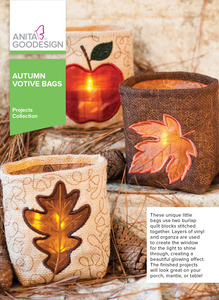 Anita Goodesign PROJ94 Autumn Votive Bags Projects Collection Designs CD