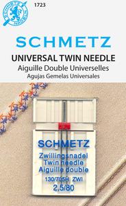 Schmetz S-1723 Universal Twin sz2.5/80 10pk