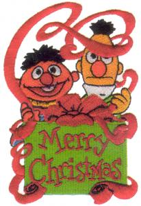 6564: Amazing Designs BMC SS5 Sesame Street Christmas Collection I Brother PES Embroidery Card