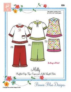 Bonnie Blue BBDP159 Milly ruffled tops, capris and pants size 2-8yrs