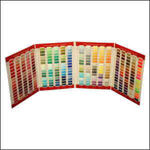 Floriani FTC360M Real Thread 360 Colors Chart Card, 40wt Poly, Metallic, Variegated for Machine Embroidery