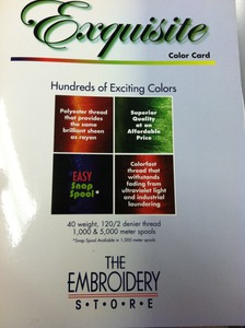 63986: Exquisite B13070 Real Thread 300 Color Card Chart 40wt Poly Embroidery