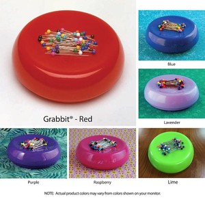 Blue Feather 7104Z Grabbit Magnetic Pin Cushion Ast GB 6 Colors +50 Pins