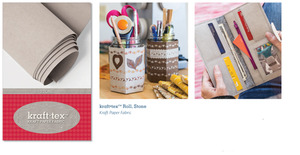 Kraft-tex Paper like Fabric Fiber in Stone Color