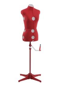 64011: Singer DF150SM_RD 12 Key Adjustable Small Medium Dress Form Red