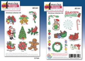 Amazing Designs / Great Notions 1341 Christmas VIII Embroidery Multi-Formatted CD