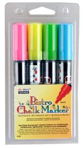 Bistro Chalk Marker UC4804H Fluouescent BL GR YL PNK