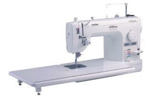 "64049: Brother PQ1500SLPRW 9""Arm Project Runway Straight Stitch Sewing Machine +Feltscaper"